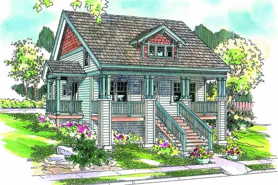 3-Bedroom, 1738 Sq Ft Coastal House Plan - 108-1043 - Front Exterior