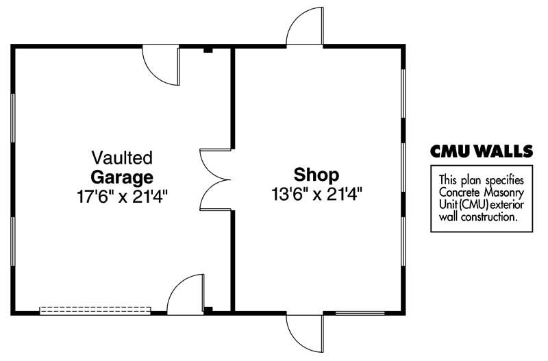 Garage Floor Plan ADI-20-001