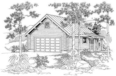 Rendering of Garage plan (ThePlanCollection: House Plan #108-1046)