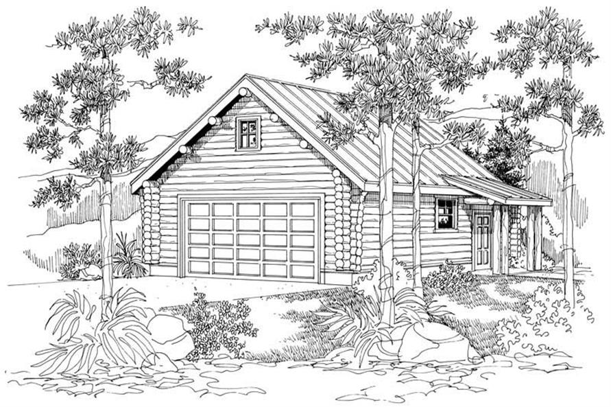 0-Bedroom, 50 Sq Ft Garage Home Plan - 108-1046 - Main Exterior