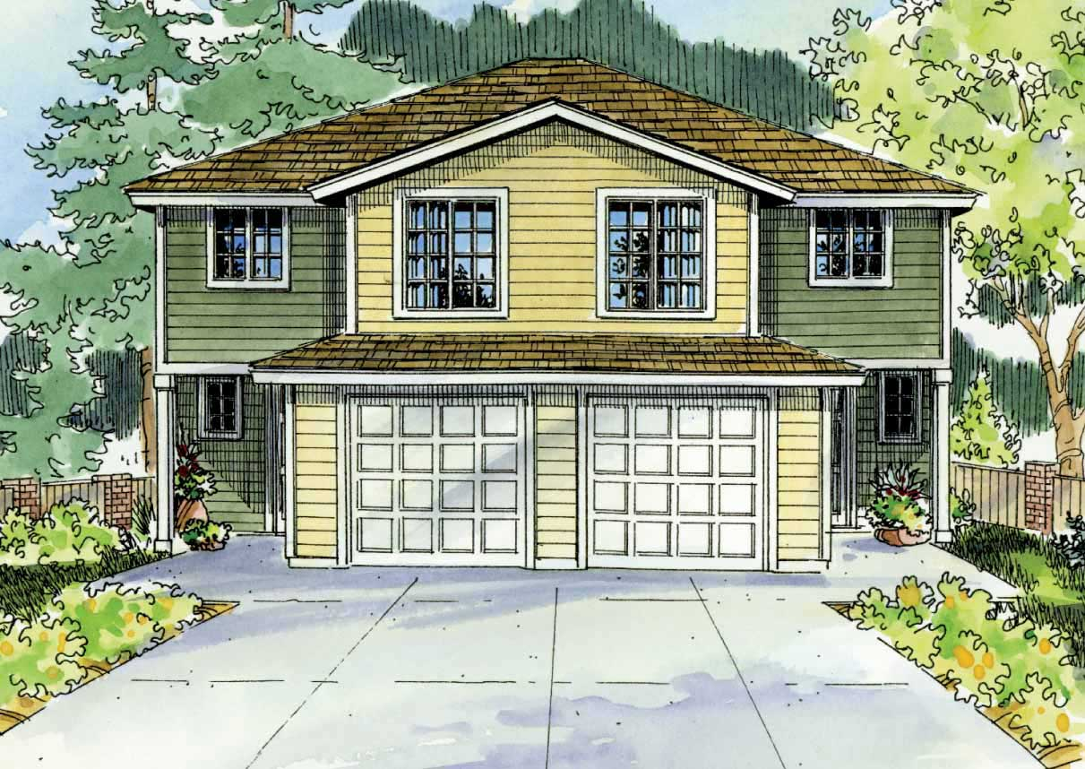 Multi unit home with 4 bdrms 1491 sq ft multi family for Multi unit home plans