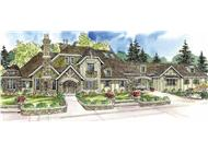 This is a colored image of these Chateau Homeplans.