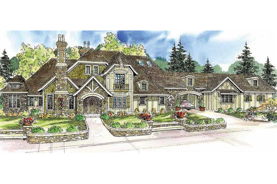 3-Bedroom, 5024 Sq Ft European House Plan - 108-1050 - Front Exterior