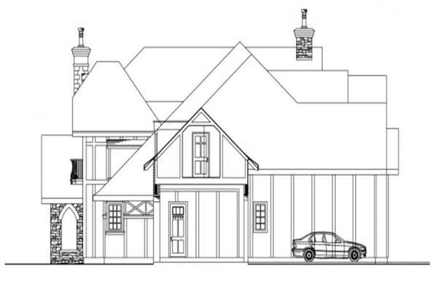 Home Plan Right Elevation of this 3-Bedroom,5024 Sq Ft Plan -108-1050
