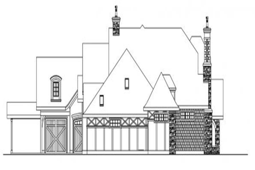 Home Plan Left Elevation of this 3-Bedroom,5024 Sq Ft Plan -108-1050