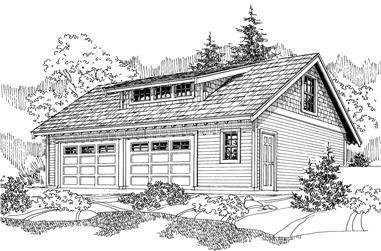 0-Bedroom, 1434 Sq Ft Garage House Plan - 108-1052 - Front Exterior