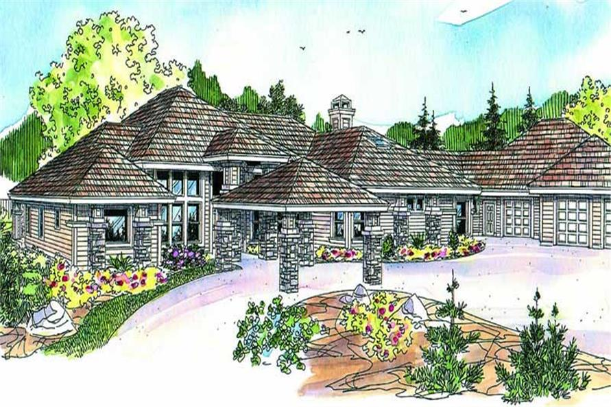 3-Bedroom, 3412 Sq Ft Craftsman Home Plan - 108-1055 - Main Exterior