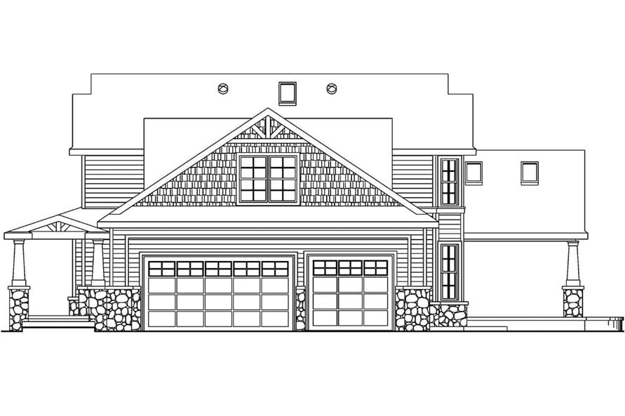 Home Plan Right Elevation of this 3-Bedroom,2674 Sq Ft Plan -108-1062