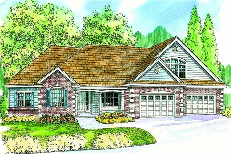 3-Bedroom, 3356 Sq Ft Colonial House Plan - 108-1063 - Front Exterior