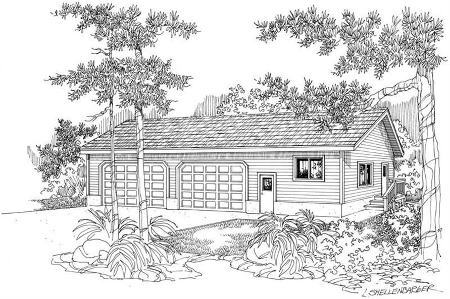 Main image for house plan # 21213