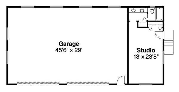 Pdf house plans garages for Garage guest house floor plans