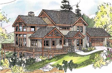 3-Bedroom, 2726 Sq Ft Craftsman Home Plan - 108-1065 - Main Exterior