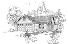 This is a black and white drawing of these garage plans.
