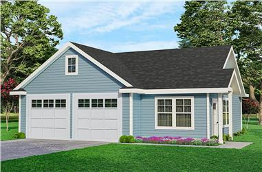 1-Bedroom, 1010 Sq Ft Garage w/Apartment - Plan #108-1067 - Main Exterior