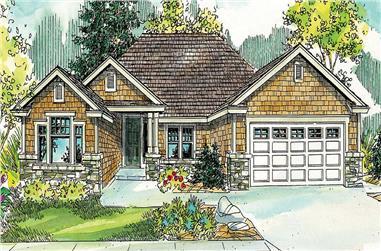 3-Bedroom, 2055 Sq Ft Craftsman House Plan - 108-1069 - Front Exterior