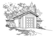 This is a drawing of these storage shed plans.