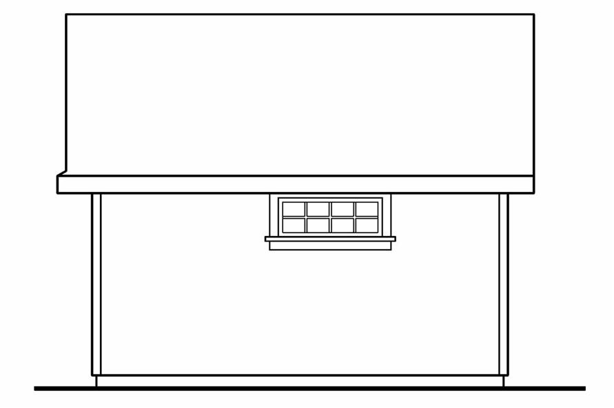 108-1073: Home Plan Right Elevation
