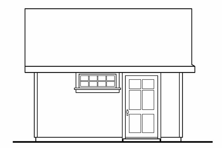 108-1073: Home Plan Left Elevation