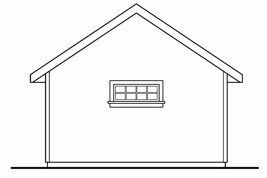 108-1073: Home Plan Rear Elevation