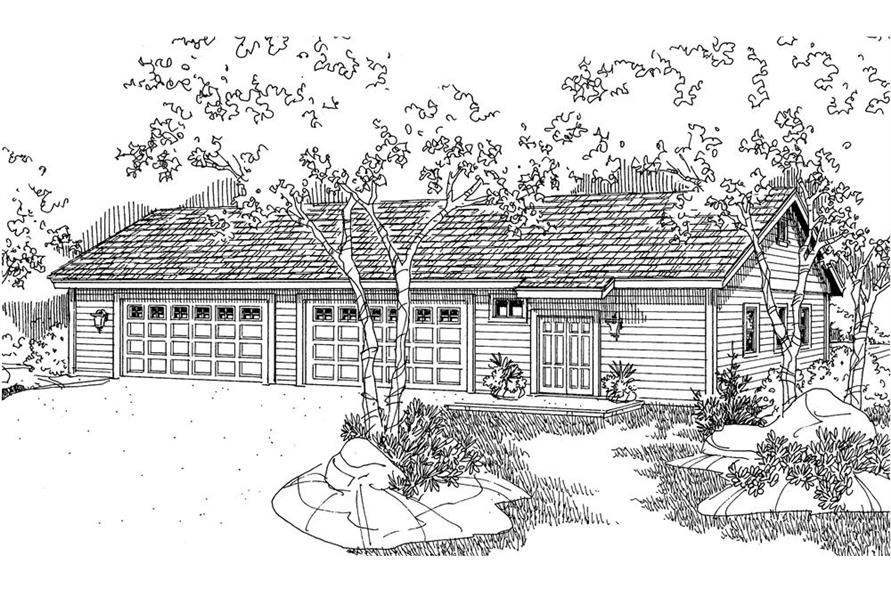 Home Plan Rendering of this 0-Bedroom,3200 Sq Ft Plan -3200