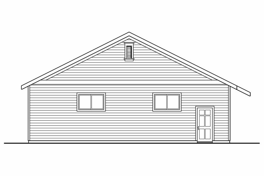Home Plan Left Elevation of this 0-Bedroom,3200 Sq Ft Plan -108-1074