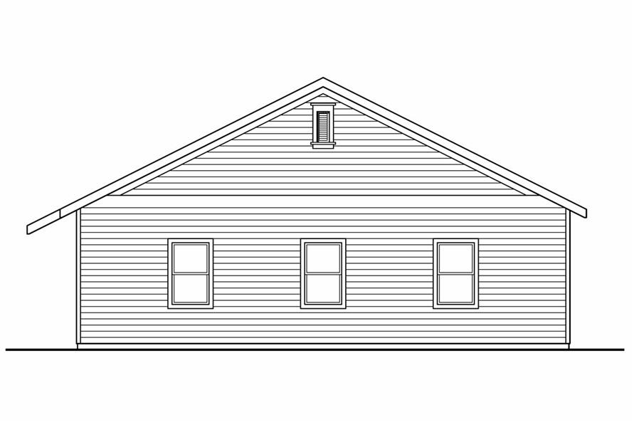108-1074: Home Plan Right Elevation