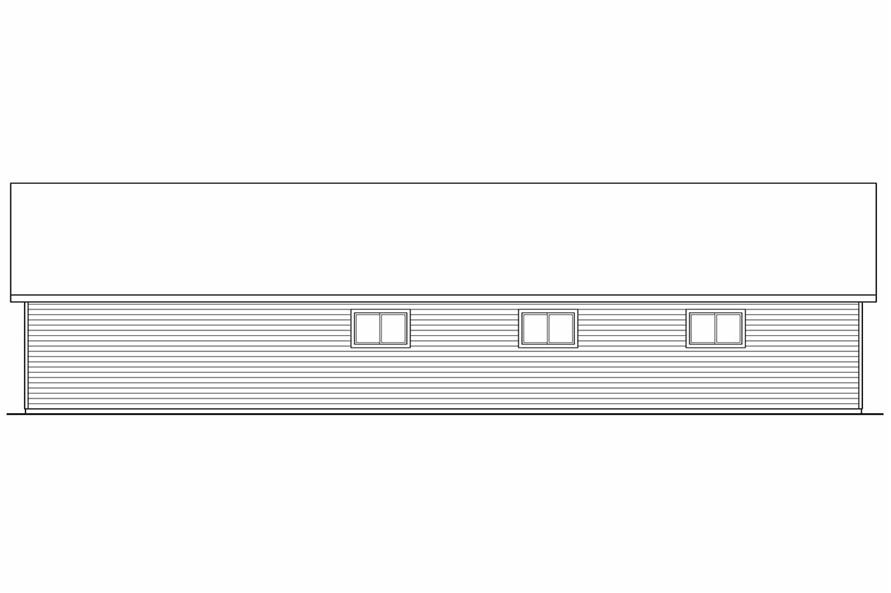 Home Plan Rear Elevation of this 0-Bedroom,3200 Sq Ft Plan -108-1074