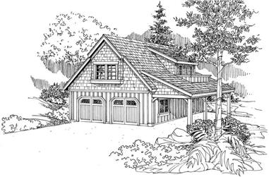 0-Bedroom, 804 Sq Ft Garage House Plan - 108-1075 - Front Exterior