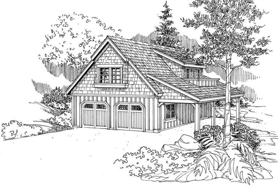 0-Bedroom, 804 Sq Ft Garage House Plan - 108-1075 - Front Exterior