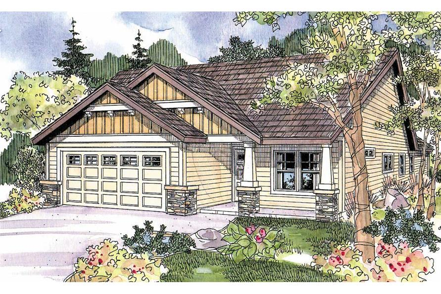 3-Bedroom, 1430 Sq Ft Contemporary House Plan - 108-1078 - Front Exterior
