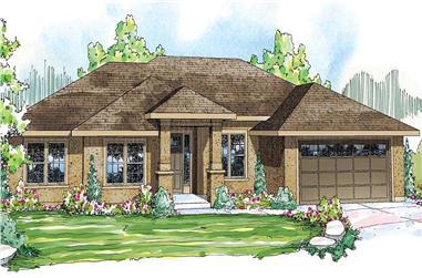 4-Bedroom, 2754 Sq Ft Ranch Home Plan - 108-1083 - Main Exterior