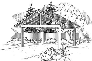 0-Bedroom, 1 Sq Ft Garage Home Plan - 108-1084 - Main Exterior