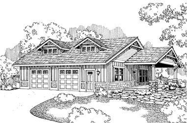 0-Bedroom, 1176 Sq Ft Garage Home Plan - 108-1087 - Main Exterior