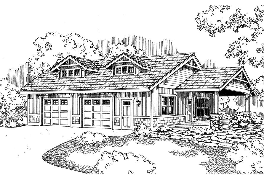 This is the front rendering of these garage plans.