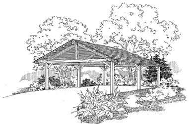 0-Bedroom, 360 Sq Ft Garage Home Plan - 108-1090 - Main Exterior
