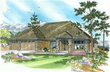 3-Bedroom, 2661 Sq Ft Craftsman Home Plan - 108-1092 - Main Exterior
