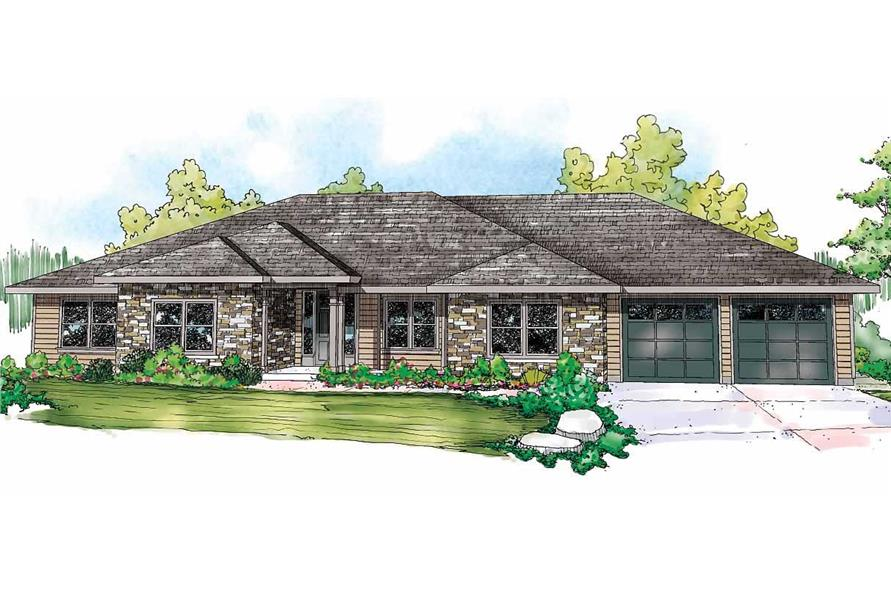 4-Bedroom, 3000 Sq Ft Prairie Home Plan - 108-1094 - Main Exterior