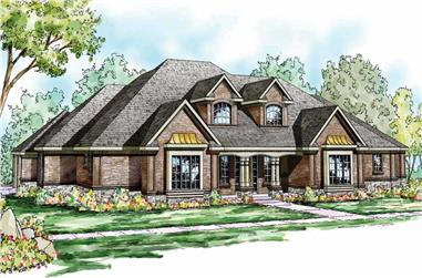 3-Bedroom, 6192 Sq Ft Cape Cod Home Plan - 108-1095 - Main Exterior