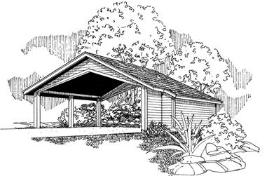 0-Bedroom, 1104 Sq Ft Garage Home Plan - 108-1096 - Main Exterior