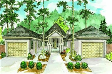 This is a colored rendering for these Florida Homeplans.