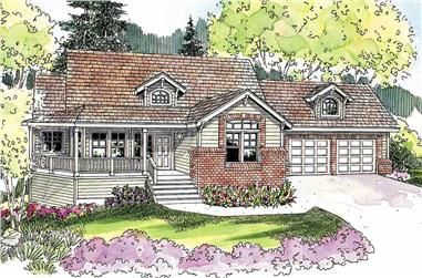3-Bedroom, 2197 Sq Ft Contemporary House Plan - 108-1105 - Front Exterior