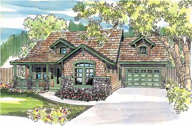 This image is a colored rendering of these great Craftsman Homeplans.
