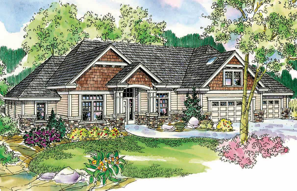 Country craftsman home with 3 bdrms 2689 sq ft floor for Country craftsman