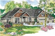 This image is a very colorful rendering of these Craftman Homeplans.