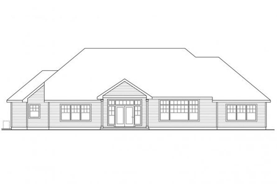 108-1111: Home Plan Rear Elevation