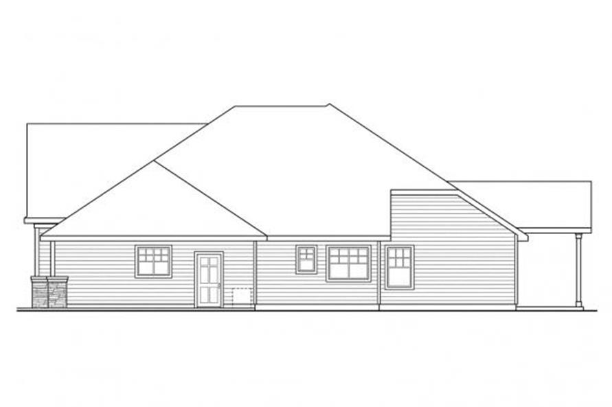 108-1111: Home Plan Left Elevation