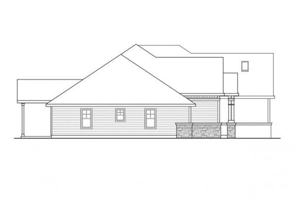 108-1111: Home Plan Right Elevation