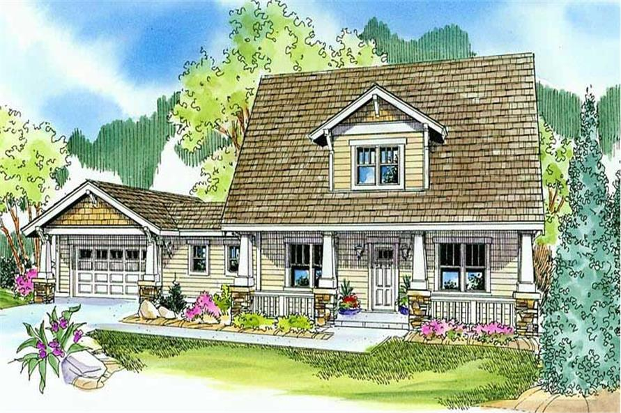 This is an artist's rendering of these country homeplans.