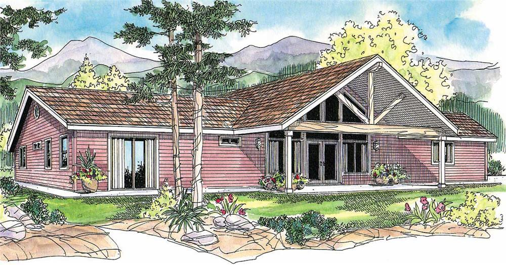 This image shows the Cabin Style of the house plans.