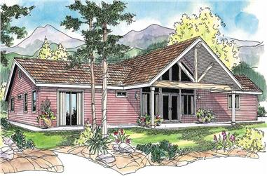 3-Bedroom, 2145 Sq Ft Contemporary Home Plan - 108-1115 - Main Exterior
